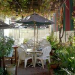 1859 National Historic Hotel, Jamestown, California, Courtyard dining available during warm weather months