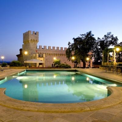View of the Castle and Pool