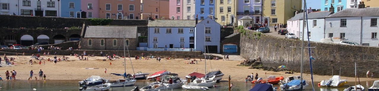Tenby Harbor, Wales, United Kingdom