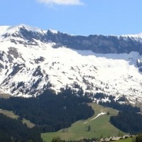 French Alps near Megeve, France