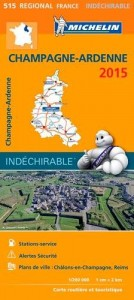 Michelin France Map 515 Champagne Ardenne