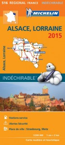 Michelin France Map 516 Alsace Lorraine