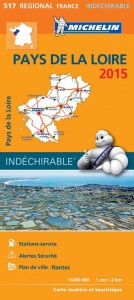 Michelin France Map 517 Pays de la  Loire Loire Valley