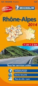 Michelin France Map 523 Rhone Alpes