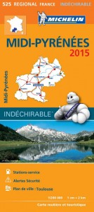 Michelin France Map 525 Midi-Pyrenees