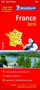 Michelin France Map 721