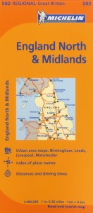 Michelin Map 502 England North Midlands
