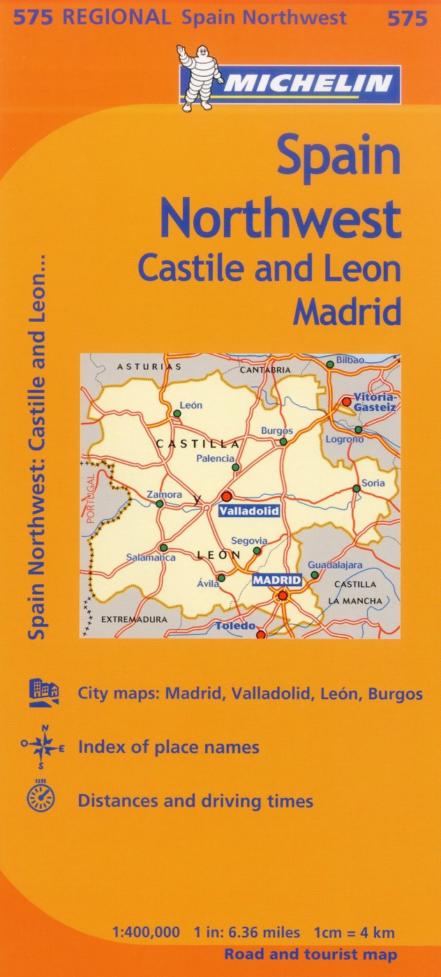 Michelin Spain Regional Northwest Castile LeonMadrid Map 575
