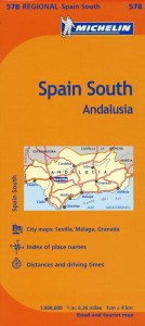 Michelin Spain 578 South Andalucia