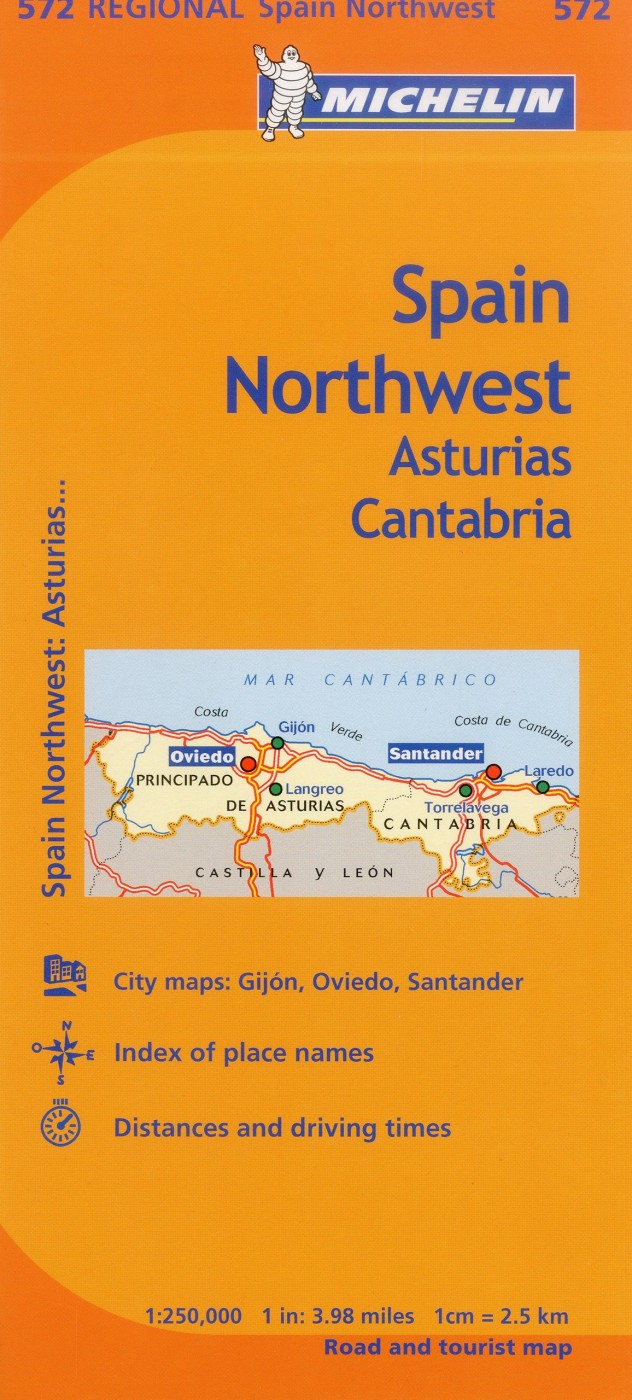 Michelin Spain Regional AsturiasCantabria Map 572 Karen