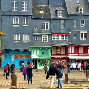 Port town of Honfleur, Normandy, France