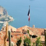 View from Eze Village, Hilltown of the French Riviera, France