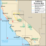 California Itinerary Overview Map