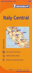 Michelin Italy Map 563 Central